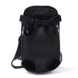 ANFTOP Breathable Front-facing Pet Carrier Backpack HandsFree Adjustable Legs&Tails Out Dog Cat Travel Bag Fit for Traveling Hiking Camping