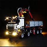 Kit Luce a LED per Lego Technic 42043 L'Arocs Camion Costruzione Blocchi in laterizio Auto Compatibile con 20005 3245 (Light con Battery Box)