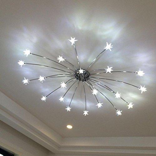 Chandelier Wohnzimmer LED-deckenleuchten Moderne Einfache Wärme Schlafzimmer Lichter Kreative persönlichkeit Buch Raum Lampen, B Bad-wärme-lampen