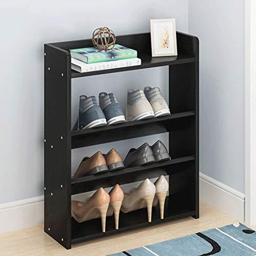 Zpwsnh nero semplice multi-strato scarpiera casa dormitorio camera da letto polvere di stoccaggio scarpiera armadio spazio piccolo scarpiera 40x17x64cm