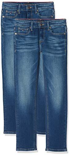 Tommy Hilfiger Jungen Scanton Slim AVMBST Jeans, Blau (Avenue Mid Blue Stretch 911), 104 (Herstellergröße: 4) - Avenue Stretch-jeans