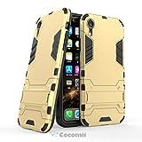Cocomii Iron Man Armor iPhone XR Hülle [Strapazierfähig] Erstklassig Taktisch Griff Ständer Stoßfest Gehäuse [Militärisch Verteidiger] Ganzkörper Case Schutzhülle for Apple iPhone XR (I.Gold)