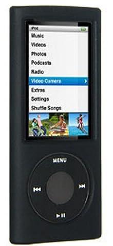 Amzer Silicone Skin Jelly Case Cover for iPod Nano 5th Gen - Black