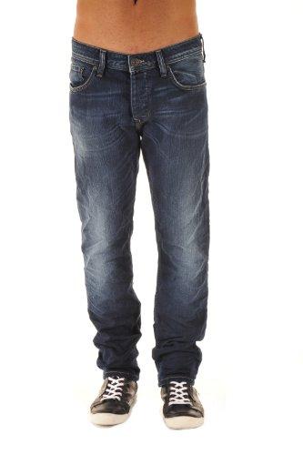 Salsa Herren Jeans 911008350110637ABCFQR, Tapered Fit (Karotte) Blau (ABCFQR)