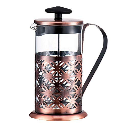 Kaffeebereiter Französische Kaffeepresse Tee Presse Topf Edelstahl Borosilikatglas hitzebeständig 600 ml für den morgendlichen Kaffeegenuß
