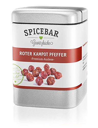 Spicebar Roter Kampot Pfeffer, Premium Auslese aus Kambodscha (1 x 70g) - Rote Pfefferkörner