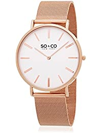SO & CO New York Quartz Watch Analogue Display and Stainless Steel Strap GP15431_White