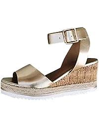 77c1a41e7 Zapatos Mujer Tacon Fiesta ♡♡Fannyfuny♡ Sandalias Mujer Zapatillas de Cuña  para Mujeres Zapatillas