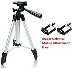 Jhapat Tripod-3110 40.2 Inch Portable Camera Tripod with 3D Head & Quick Release Plate