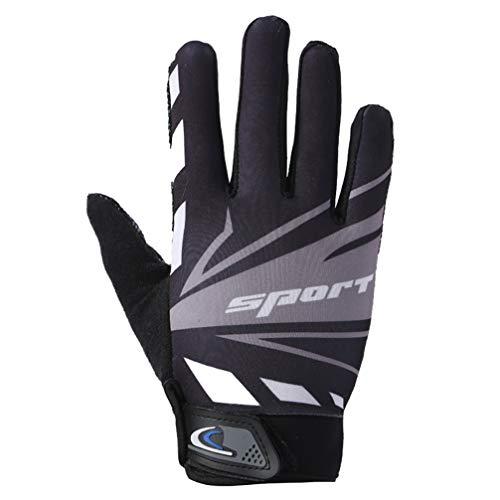 Asolym Handschuhe Touchscreen-Reithandschuhe rutschfeste, atmungsaktive Fitness-Kletter-Dünnschliff-Sporthandschuhe,Grau,L