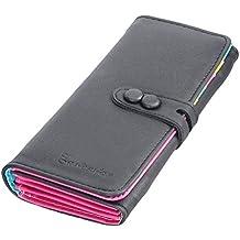 Ularma 2016 Moda Cartera Billetera móvil bolsa pequeño fresco (negro)