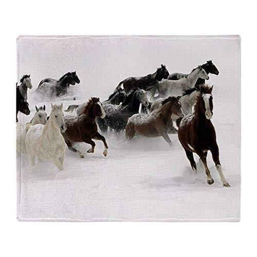 YISUMEI Decke 150x200 cm Kuscheldecken Sanft Flanell Weich Fleecedecke Bettüberwurf Pferde Laufen
