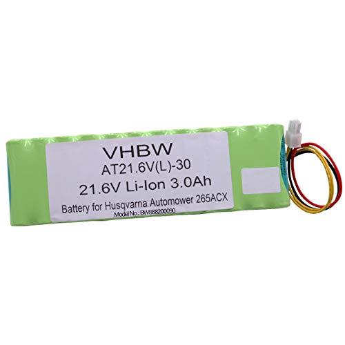 vhbw Li-Ion Batteria 3000mAh (21.6V) per tagliaerba, Robot tagliaerba Husqvarna Automower 265, 265 ACX