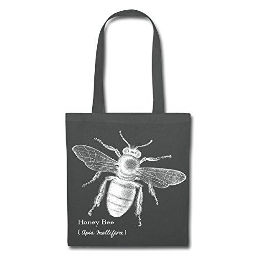 Spreadshirt Animal Planet Honigbiene Honey Bee Stoffbeutel Graphite