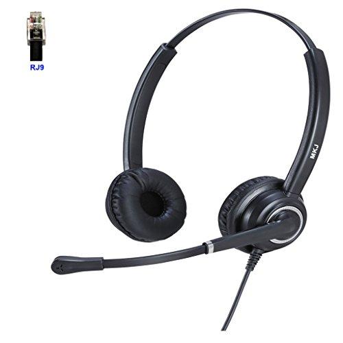 Cisco Headset mit RJ9QD Stecker und Noise Cancelling Mikrofon für Cisco 7931G, 7940, 7941G, 7942G, 7945G, 7960, 7961, 7961G, 7962G,/G, 7970