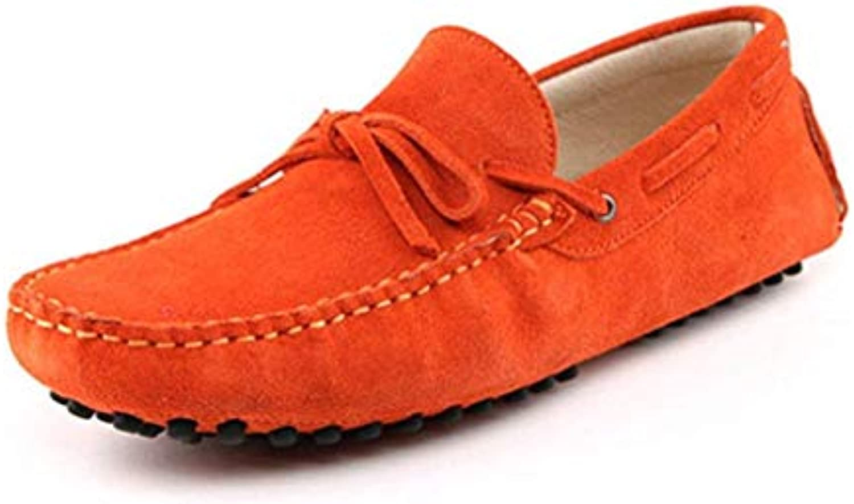 Willsego Mocassino da Uomo in Pelle Scamosciata Arancione con Mocassini da Guida Penny Boat scarpe 6.5 M UK (Coloreee... | Outlet  | Uomo/Donna Scarpa
