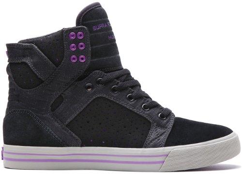 Supra SKYTOP Unisex-Erwachsene Hohe Sneakers Black/Purple/Grey