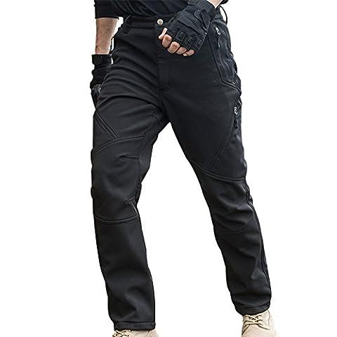 gratuit Soldat d'extérieur pour homme Softshell Pantalon Instant imperméable et coupe-vent Pantalon d'escalade et randonnée Pantalon S noir