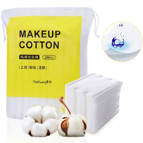Almohadillas de algodón para desmaquillar cosméticos de uñas - Almohadillas de limpieza - 2.36 pulgadas x 1.89 pulgadas 200 unidades por paquete