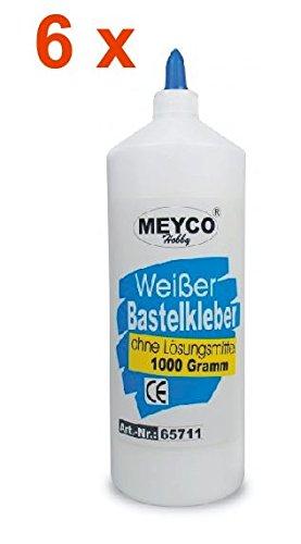 Bastelkleber 6x 1000g, Meyco