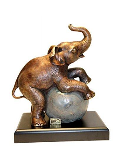 Bronze Elefant Rolling Ball