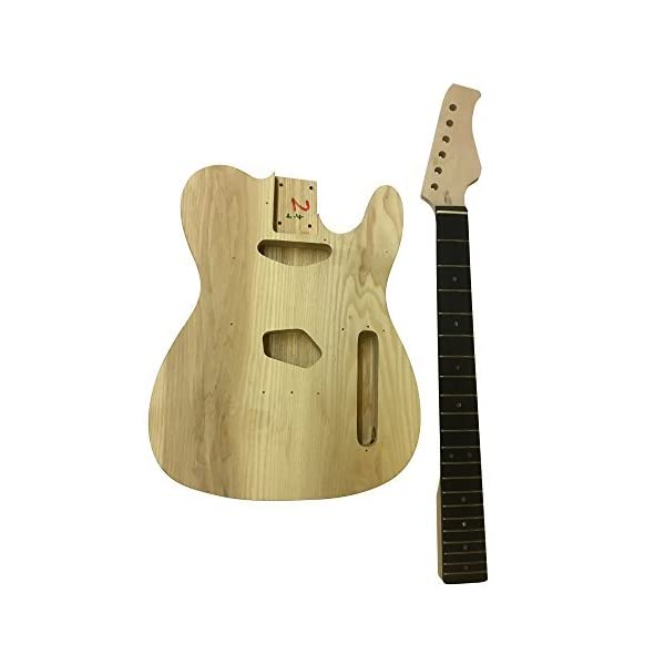GD6603 Coban Guitars Ash Corpo Chitarra Elettrica Kit fai da te A Destra per Da studio & Liutaio Proietta