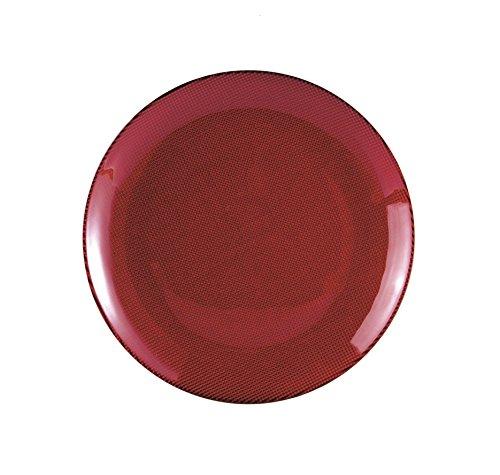 Excelsa Diamond Piatto Piano, Rosso, 26x26x1 cm