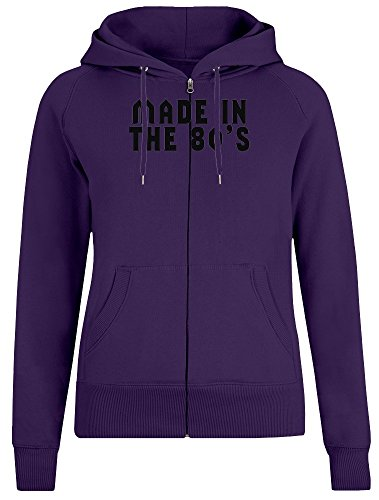 t in den 80er Jahren - Made In The 80's Zipper Hoodie Jumper Pullover for Women 100% Soft Cotton Womens Clothing X-Large ()