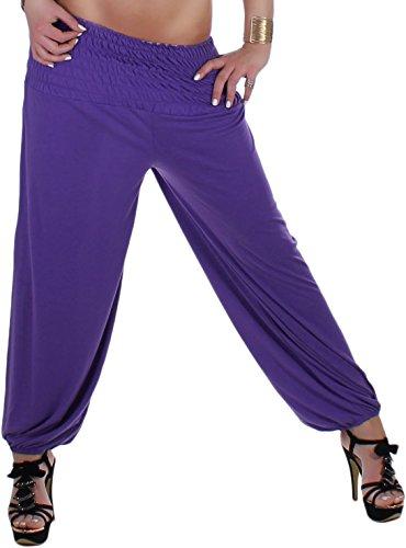 Stretch pantalon de sport pour femme fitness aladin harem pluder pantalon 34 s-44 10 couleurs taille xL Bleu - Bleu