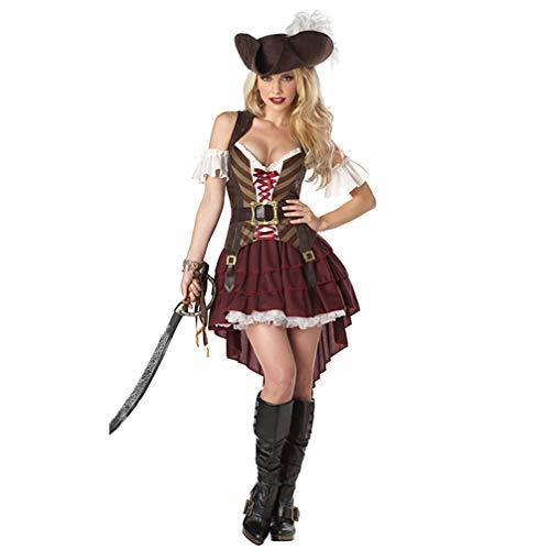 Kostüm Piraten Für Erwachsene Frauen - TSMDHH Karibik Piraten Reiterin Kostüm Erwachsenen Piraten Kostüm COS Spiel Sexy Kostüm Halloween Kostüm
