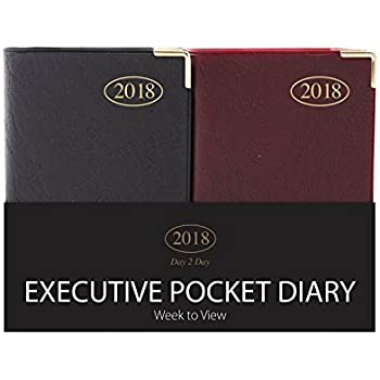 2019 Pocket Size Diary Gilded Corners Free p+p Week to View Diary