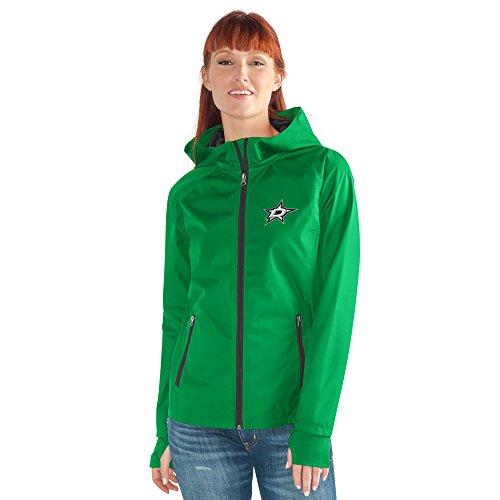 GIII For Her NHL Damen Stand ermöglicht Kick Light Gewicht Full Zip Jacket, Damen, Onside Kick Light Weight Full Zip Jacket, grün, XX-Large Womens Primary Zip Hoody