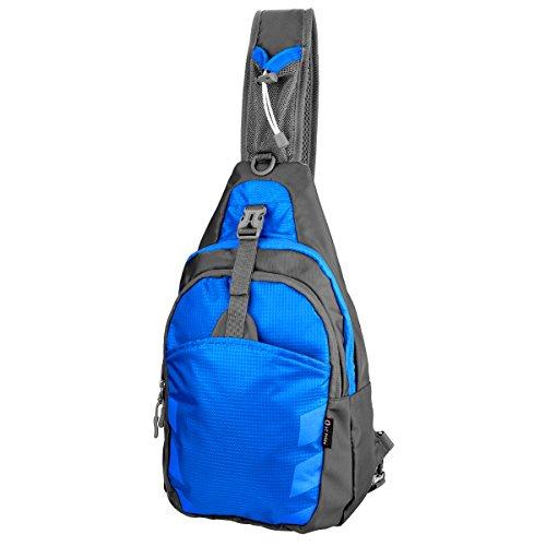 LC Prime Schleuder Tasche Chest Pack,Multiple Storage Zweck Umhängetasche Tragen Styles, für Outdoor Sportarten Reisen Nylon Fabric Blue, by