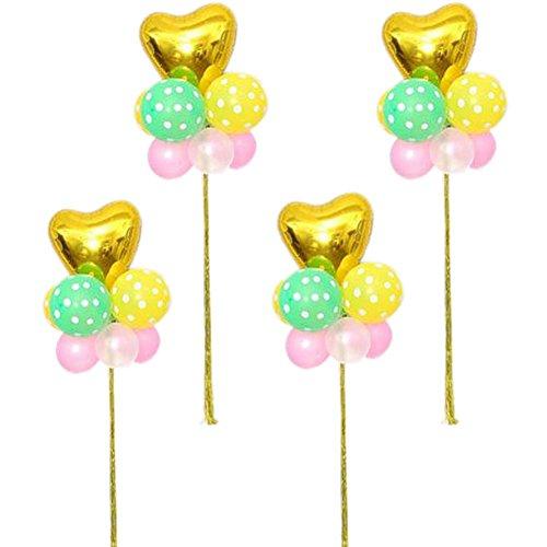 Koala Superstore Set 4 Arrange in Gruppen Hochzeitsfeier Ballons Latex Geburtstag Herzförmiger Stern