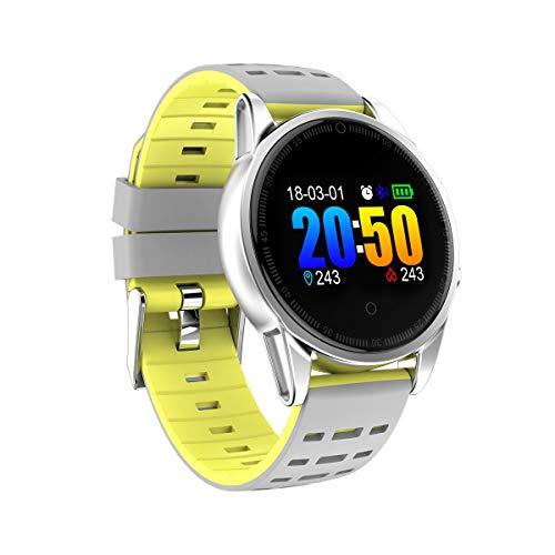 YOZOOE Smart Bracelet R13 Farbdisplay Pulsoximeter Blutdruck Multi-Motion-Schritt Schlaf Wettervorhersage Funktion Smart Bracelet Fitness Tracker, Sport & Outdoor (Farbe : T3)