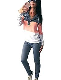 ISSHE Ensemble Survetement Femme Ensemble Jogging Sport Femme Sweat Shirt à Capuche Sweatshirt Survêtements Ensembles Hoodie Sweat-shirt à Capuches Pull Shirt + Pantalons Fille Hiver Chaud