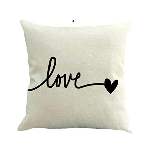 Fittingran federa casa, san valentino creativo tiro federa lino divano cuscino decor cover 17,7