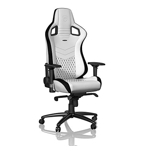 noblechairs EPIC Chaise de jeu - Chaise de bureau - Cuir synthétique PU - Blanc / Noir