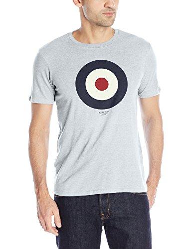 ben-sherman-herren-t-shirt-mb12872-gr-large-grau-oxford-marl-f18