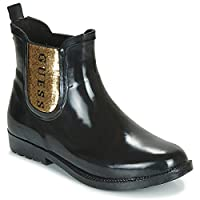 Guess REKHA3 Boots Women Black/Gold Wellington Boots