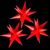 Sternschmiede 3 Papiersterne beleuchtet, Netzteil (rot)