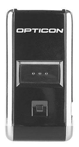 Opticon OPN-2006Barcodelesegerät, Laser, 1D, zusammengesetzte Codes, MicroPDF417, PDF417, kabelgebundener und kabelloser Anschluss, Bluetooth u. USB 1.1, Schwarz/silberfarben