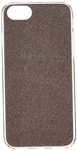 Liebeskind Berlin Damen Mobile Cap Bumper iPhone 7 & 8 Taschenorganizer, Braun (Bronze Glitter), 1x14x7 cm
