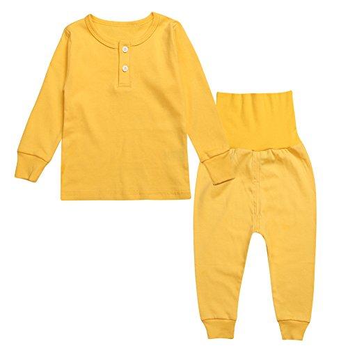 Kinder Pyjamas 100% Baumwolle Jungen Mädchen Plain Nachtwäsche Pjs einstellen (Flanell Pjs Herren)