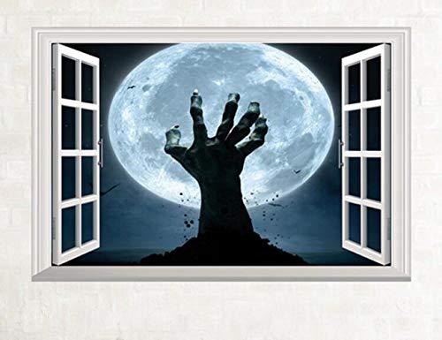 ster Halloween Dekoration Blick Gruselig Bloody Gebrochene Hand Aufkleber Home Halloween Party DIY Geschenk Dekoration ()