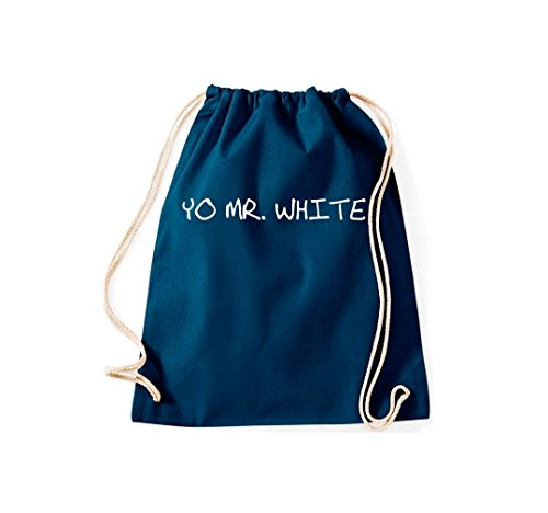 Turnbeutel YO MR. White Gymsack Kultsack Navy