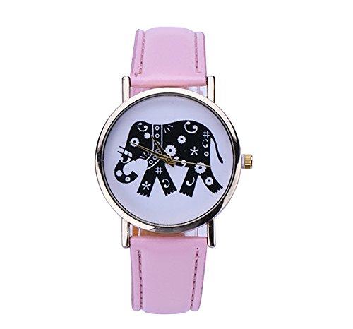 Reloj de pulsera para mujer Elefant Hipster cuarzo analógico oro modelo individualmente...