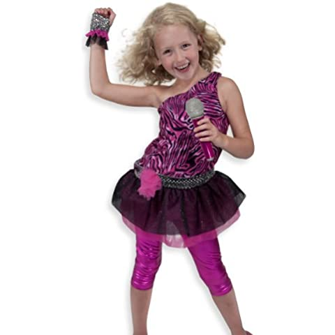 Melissa & Doug Rock Star Role Play Costume Set by Melissa & (Zebra Leggings Set)