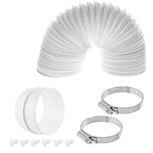 Spares2go 4manguera de ventilación M conexión anillo Jubilee Clip Kit para Miele secadora