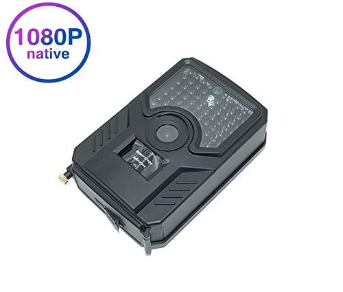 Caméra de chasse au détecteur de mouvement de vision nocturne, 120 ° grand angle 16 MP 1080p étanche sans fil temps de déclenchement de 0,4 secondes, pour la nature extérieure, jardin, surveillance de